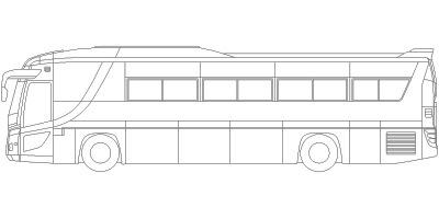 バス 車の塗り絵cadデータ
