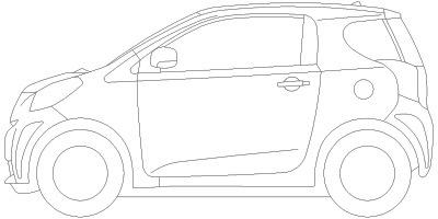 トヨタ 車の塗り絵cadデータ